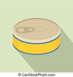 Tuna can icon, flat style