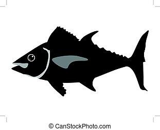 tuna - silhouette of tuna
