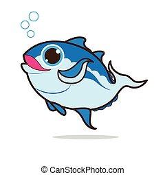 tuna fish cute cartoon