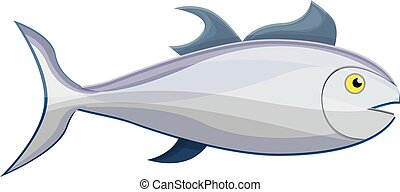 Tuna fish icon, cartoon style