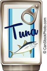 Tuna fish in aluminum can
