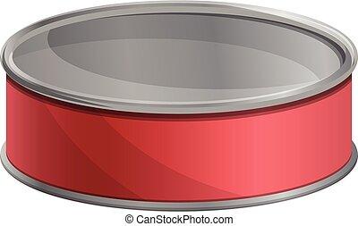Tuna fish tin can icon, cartoon style