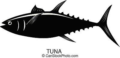 Tuna fish vector icon