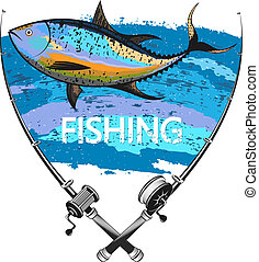 Tuna fishing symbol