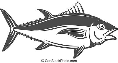 tuna icon isolated on white background. Vector illustration.
