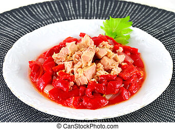Tuna loins with red peppers 2.