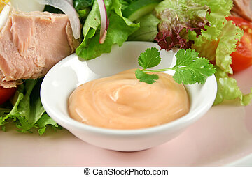 Tuna Salad And Dressing
