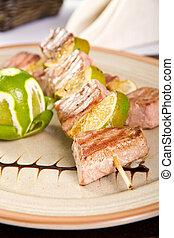 Tuna skewers