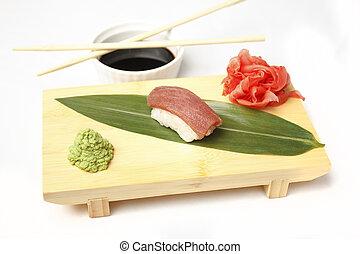 Tuna Sushi sashimi with tuna