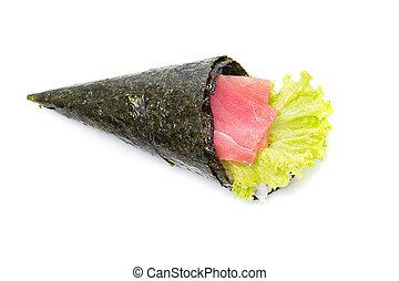 Tuna sushi temaki