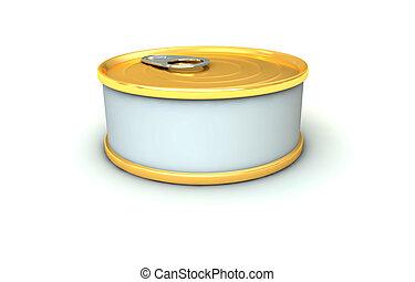 tuna tin - One 3d tuna tin with blank space for general...