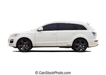 Tuned luxury SUV isolated on white