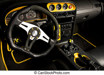 Tuned sport car interior