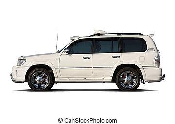 Tuned SUV - Tuned luxury SUV isolated on white