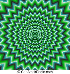 tunel, abstrakcyjny, barwny, hipnotyczny