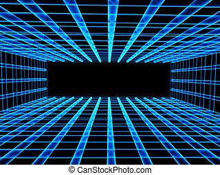 tunel, krata, abstrakcyjny, tło