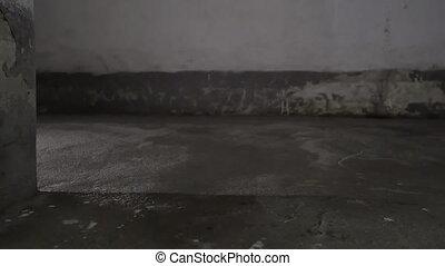 tunel, osoba, pieszy
