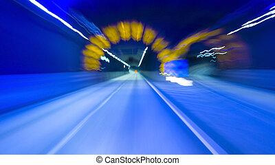 tunel, przez, napędowy