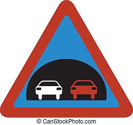tunel traffic sign vector