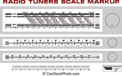 tuner, dashboard, radio, markup, schub