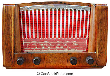 tuner, radio, bois