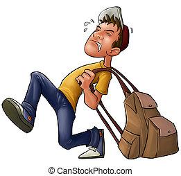 tung, ryggsäck