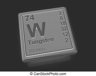Tungsten. Chemical element.