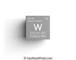 Tungsten form periodic table of elements v2 tungsten form tungsten transition metals chemical element of mendeleevs periodic table urtaz Choice Image