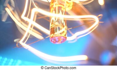 Tungten Bulb - Close up of a Tungsten bulb