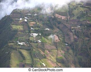 Tunguragua Volcano, Ecuador - Cultivated fields on the...