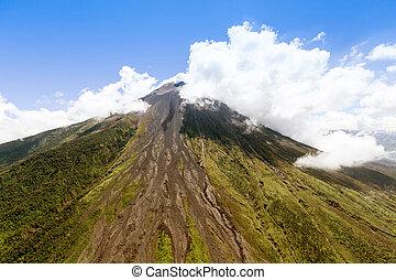 Tungurahua Volcano Aerial Shot