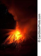 Tungurahua Volcano Erupting