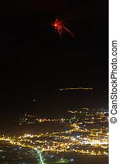 Tungurahua Volcano Eruption And Patate City