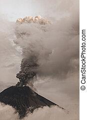 Tungurahua Volcano Spews Smoke And Ash