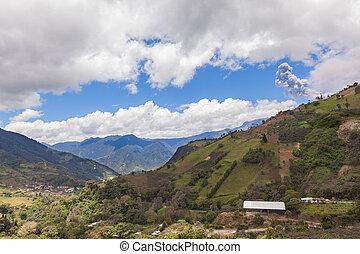 tungurahua, vulkán, ecuador