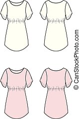 Tunic - Vector illustration of tunic. Front and back