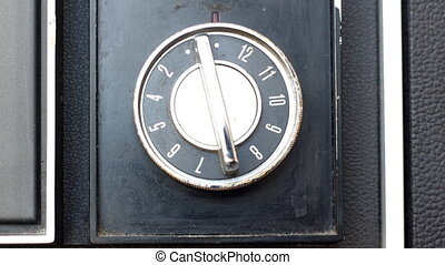 tuning dial of old telelvision