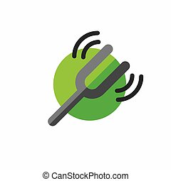 Tuning fork icon with sound wave image