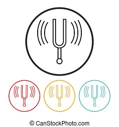 tuning fork line icon