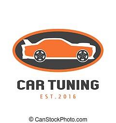 Tuning garage, car service vector logo