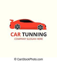 tuning., rendbehozás, service., autó, centre., autó., háttér, autó, white piros