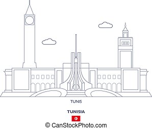 Tunis Linear City Skyline, Tunisia