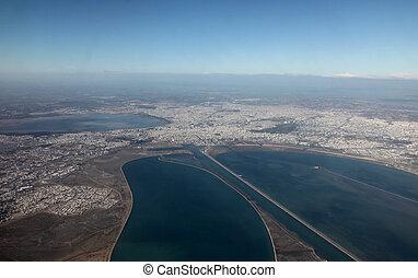 tunis, vue aérienne