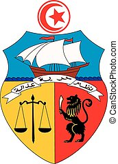 Tunisia coa - Various vector flags, state symbols, emblems...