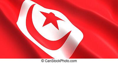 Tunisia flag 3d