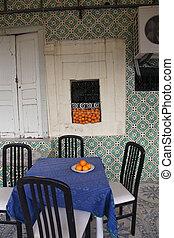 tunisia., kawiarnia, el-jem, medyna