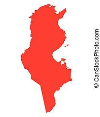 tunisia, mappa