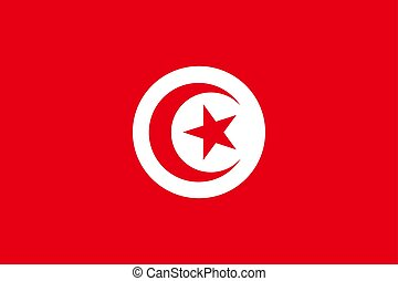 Tunisia national flag. Vector illustration. Tunis