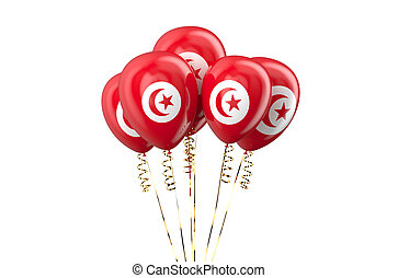 Tunisia patriotic balloons,  holyday concept