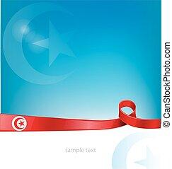 tunisia ribbon flag
